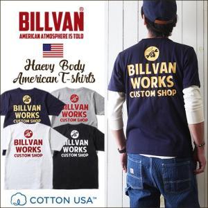 Tシャツ BILLVAN バック アメリカンワークス スタンダード バックプリントTシャツ 3003...