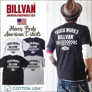 Tシャツ BILLVAN トラックワークス スタンダード バックプリントTシャツ 300308 ビルバン メンズ アメカジ|ブギースタイル