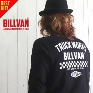 ロンT BILLVAN TRUCK WORKS ガゼット&リブ付き ヘビーロングTシャツ BV-300308LS メンズ アメカジ|boogiestyle