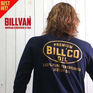 ロンT BILLVAN BILLCO OIL ガゼット&リブ付き ヘビーロングTシャツ BV-300309LS メンズ アメカジ|boogiestyle