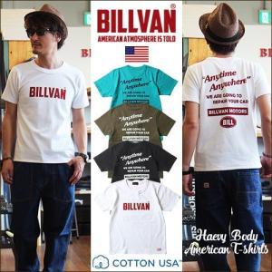 Tシャツ BILLVAN ロゴ ビルバンモーターズ 両面プリントTシャツ 300310 ビルバン メンズ アメカジ|ブギースタイル