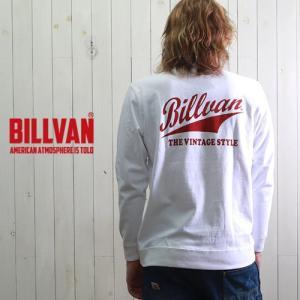 ロンT BILLVAN VINTAGE STYLE ガゼット&リブ付き ヘビーロングTシャツ BV-300311LS メンズ アメカジ|boogiestyle