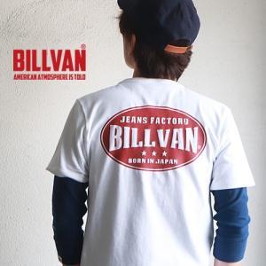 Tシャツ BILLVAN JEANS FACTORY バックプリント ヘビーTシャツ 310301SS ビルバン メンズ|boogiestyle