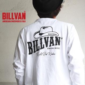 ロンT BILLVAN DENIM FACTORY HAT柄 ガゼット&リブ付き  ヘビーロングTシャツ BV-310307LS メンズ アメカジ|boogiestyle