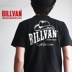 Tシャツ BILLVAN DENIM FACTORY HAT柄 バックプリント ヘビーTシャツ 310307SS ビルバン メンズ|ブギースタイル