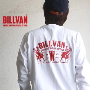 ロンT BILLVAN DEINM ガゼット&リブ付き アメリカンホース ヘビーロングTシャツ BV-310309LS メンズ アメカジ|boogiestyle