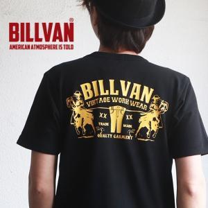 Tシャツ BILLVAN DENIM アメリカンホース ヘビーTシャツ 310309SS ビルバン メンズ アメカジ|boogiestyle
