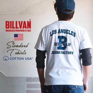 Tシャツ BILLVAN L.A JEANS FACTORYバックプリント ヘビーTシャツ 310346 ビルバン メンズ ブギースタイル