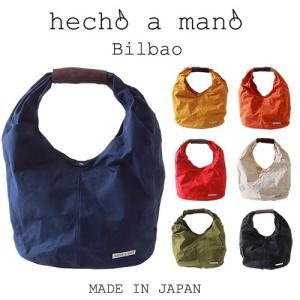 hecho a mano ヘチョ ア マーノ 日本製 Bilbao デザイン・トートバッグ パラフィンキャンバス メンズ アメカジ 送料無料|boogiestyle