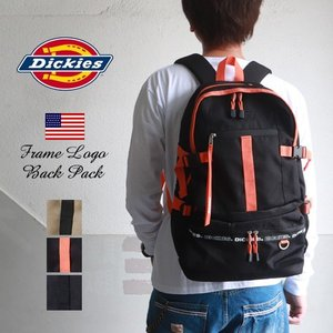 DICKIES ディッキーズ フレームロゴ バックパック リュックサック 14504200|boogiestyle