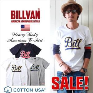 Tシャツ BILLVAN アメリカンスタンダード  スポーツBILLプリントTシャツ GRS0721 ビルバン メンズ アメカジ boogiestyle
