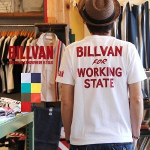 Tシャツ メンズ アメカジ BILLVAN ビルバン アメカジプリント半袖Tシャツ WORKING 726A ヘビーウェイト Tシャツ|ブギースタイル
