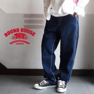 ROUNDHOUSE ラウンドハウス オーセンティック デニムペインターパンツ メンズ アメカジ 送料無料|boogiestyle