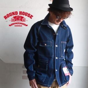 ROUNDHOUSE ラウンドハウス デニム エンジニアジャケット メンズ アメカジ 送料無料|boogiestyle