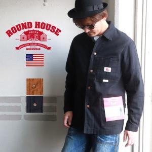 ROUNDHOUSE ラウンドハウス ダックキャンバス ビンテージスタイルカバーオール メンズ アメカジ|boogiestyle