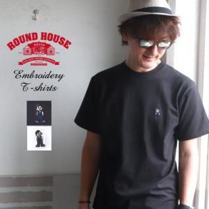 ROUNDHOUSE ラウンドハウス ラウンドボーイ刺繍 ヘビーウェイトTシャツ USAコットン メンズ アメカジ|boogiestyle