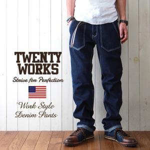 TWENTY WORKS ファティーグ ワーキングデニムパンツ メンズ アメカジ 送料無料|boogiestyle