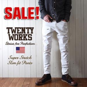 TWENTY WORKS スーパーストレッチ テーパードスリム 9分丈パンツ メンズ アメカジ|boogiestyle