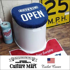 Culture Mart トイレカバー OPEN /101073/ネイビー boogiestyle