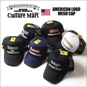 Culture Mart アウトラインロゴ アメカジ プリント メッシュキャップ 全6柄/101271 boogiestyle