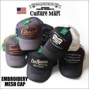 Culture Mart アメカジ刺繍 ツイルメッシュキャップ 全6柄/101282 boogiestyle