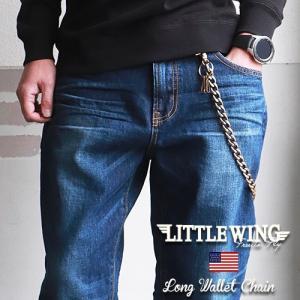 普通郵便送料無料 LITTLE WING 60'sヴィンテージ ロングタイプ 極太ウォレットチェーン LW076 メンズ アメカジ|boogiestyle