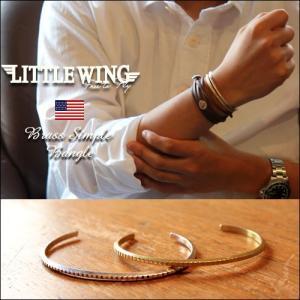 普通郵便送料無料 バングル LITTLE WING真鍮ギザ・インディアンバングル  LWD349|boogiestyle