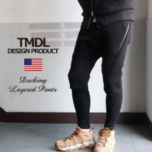 TMDL ワッフルレギンス×ダイバーショーツ フェイクレイヤードパンツ メンズ|boogiestyle