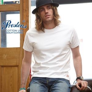 Tシャツ PRESTONSヘビータフCottonUSATシャツ 12カラー ユニセックス プレストンズ メンズ アメカジ|boogiestyle