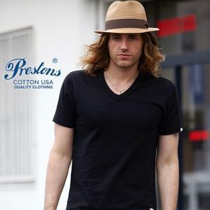 Tシャツ PRESTONSヘビータフ COTTON USA VネックTシャツ 6カラー ユニセックス プレストンズ メンズ アメカジ|boogiestyle