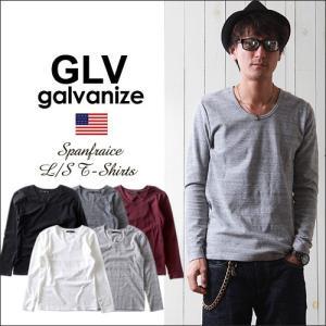 2017秋冬新作 GLV/galvanize ガルバナイズ スパンフライス Uネック長袖カットソー メンズ アメカジ boogiestyle