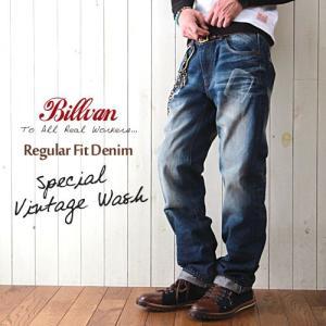 BILLVANリアルヴィンテージウォッシュ803レギュラーフィットデニムパンツ メンズデニムジーンズ メンズ アメカジ 送料無料