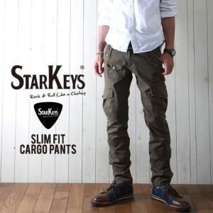 STARKEYS ヴィンテージ加工 スリム・カーゴパンツ メンズ アメカジ|boogiestyle