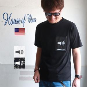 HOUSE OF BLUES ハウスオブブルース ビニールポケット デザイン 半袖Tシャツ メンズ アメカジ|boogiestyle
