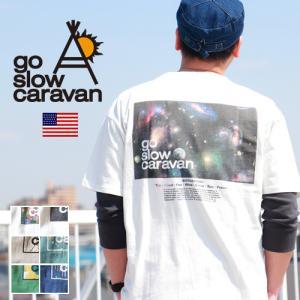 GO SLOW CARAVAN ゴースローキャラバン USAコットン コンセプトプリント 半袖Tシャツ|ブギースタイル