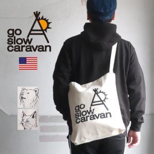 GO SLOW CARAVAN ゴースローキャラバン 12ozキャンバス 縦型 トート ショルダー 2WAYバッグ|ブギースタイル