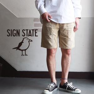 ショーツ SIGN STATE サマーコーデュロイ ショートパンツ サインステート アメカジ サーフ メンズ アメカジ|boogiestyle
