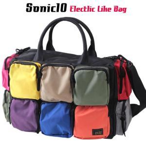SONIC10 カラー10ポケット 2WAYボストンショルダーバッグ  アメカジ メンズ アメカジ 送料無料|boogiestyle