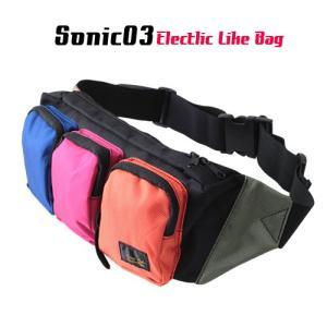 SONIC03 カラー3ポケット ボディーバッグ  アメカジ メンズ アメカジ|boogiestyle