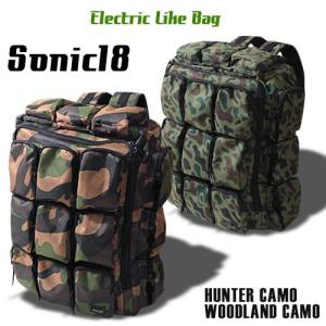 SONIC18 カモパターン 18ポケット・リュック 迷彩  アメカジ メンズ アメカジ 送料無料|boogiestyle