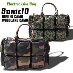 SONIC10 カモパターン 2WAYバッグ 迷彩  アメカジ メンズ アメカジ 送料無料|boogiestyle