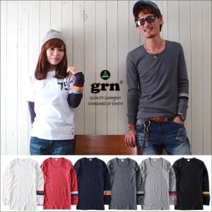 Tシャツ grn 新シリーズ長袖 マイ・フィット袖ライン 長袖Tシャツ メンズ アメカジ|boogiestyle