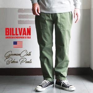 BILLVAN ジャーマンクロス・テーパード・ベイカーパンツ・ストレッチ ビルバン アメカジ メンズ boogiestyle