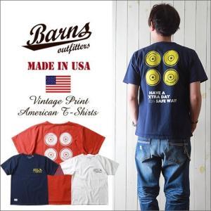 BARNS Made in USA ヘビーボディー スケボーWHEELプリント 半袖Tシャツ BR7036 メンズ アメカジ boogiestyle