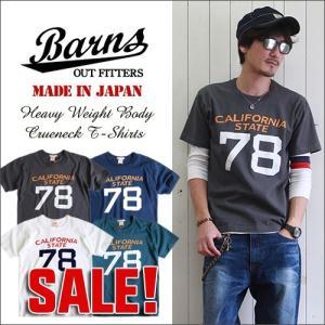 BARNS 日本製 ヘビーボディー California State78 ヴィンテージTシャツ BR7083a メンズ アメカジ boogiestyle