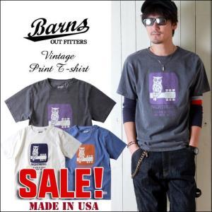 BARNS Made in USA ヘビーボディーNIGHTMUSIC 半袖Tシャツ BR7125 メンズ アメカジ boogiestyle