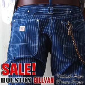 HOUSTON×BILLVAN日本製ウォバッシュストライプぺインターワークパンツ ビルバン メンズデニム ジーンズ メンズ アメカジ 送料無料|boogiestyle