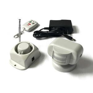 防犯アラーム 防犯センサー センサーが感知 緊急信号を無線サイレン に送信 大音響で外部に緊急事態を知らせる (防犯シールは付きません)|boohan