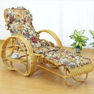 籐三つ折リクライニング寝椅子 カバー付き a20 椅子 イス いす チェアー チェア リクライニングチェア 折りたたみ椅子 リラックスチェア|bookshelf
