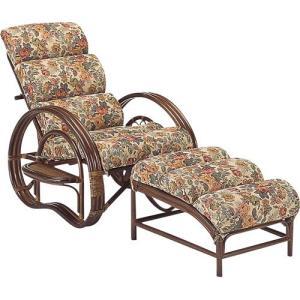 籐家具 ラタン 椅子 チェアー リクライニングチェア 折り畳みチェア アームチェア 籐リクライニング寝椅子 オットマン付 a220b|bookshelf